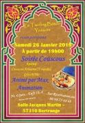 Soirée Couscous à Bertrange 57310 Bertrange du 26-01-2019 à 19:00 au 27-01-2019 à 03:00