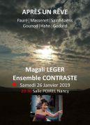 Concert Magali Léger et l'Ensemble Contraste à Nancy 54000 Nancy du 26-01-2019 à 20:30 au 26-01-2019 à 22:30