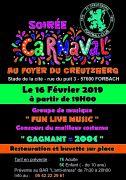 Soirée carnaval à Forbach 57600 Forbach du 16-02-2019 à 19:00 au 17-02-2019 à 05:00