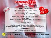 St-Valentin Evasion Restaurant Colibri Nancy 54000 Nancy du 14-02-2019 à 18:30 au 14-02-2019 à 22:00