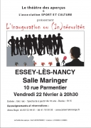 Spectacle L'inauguration ou (in)sécurité à Essey-lès-Nancy 54270 Essey-lès-Nancy du 22-02-2019 à 20:30 au 22-02-2019 à 22:15