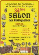 Salon des Antiquaires Epinal 88000 Epinal du 22-02-2019 à 14:00 au 24-02-2019 à 18:00