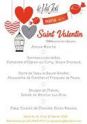 Menu Saint Valentin au Val Joli Le Valtin 88230 Le Valtin du 14-02-2019 à 20:00 au 16-02-2019 à 23:00