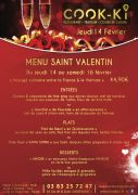 Saint Valentin Nancy au Restaurant Cook-Ki 54000 Nancy du 14-02-2019 à 19:00 au 16-02-2019 à 23:59