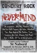 Concert Rock Nevermind à Saint-Nabord Repas 88200 Saint-Nabord du 16-02-2019 à 20:00 au 16-02-2019 à 22:00