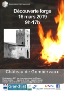 Découverte Forge et Vitrail Château de Gombervaux 55140 Vaucouleurs du 16-03-2019 à 09:00 au 16-03-2019 à 17:00