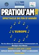 Concert de fin d'année Pratiqu'AM 2019 à Pont-à-Mousson 54700 Pont-à-Mousson du 11-06-2019 à 20:00 au 11-06-2019 à 22:00