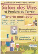 Salon des vins et produits des terroirs Rohrbach-lès-Bitche 57410 Rohrbach-lès-Bitche du 08-03-2019 à 14:00 au 10-03-2019 à 18:00