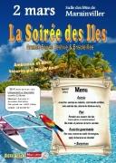 Dîner Dansant Soirée des Iles à Marainviller 54300 Marainviller du 02-03-2019 à 19:30 au 03-03-2019 à 03:00