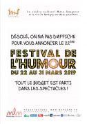 22e Festival d'Humour à Montigny-lès-Metz 57950 Montigny-lès-Metz du 22-03-2019 à 20:00 au 31-03-2019 à 22:00