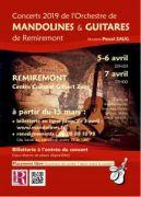 Concerts Orchestre Mandolines et Guitares à Remiremont 88200 Remiremont du 05-04-2019 à 20:30 au 07-04-2019 à 17:30
