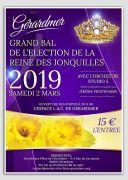 Bal Election de la Reine des Jonquilles Gérardmer 88400 Gérardmer du 02-03-2019 à 20:00 au 02-03-2019 à 23:00