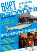 Foire aux Harengs Rupt sur Moselle Salon Vins et Terroir 88360 Rupt-sur-Moselle du 16-03-2019 à 09:00 au 17-03-2019 à 18:00
