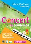 Concert de printemps à Hagondange 57300 Hagondange du 10-03-2019 à 16:00 au 10-03-2019 à 18:00