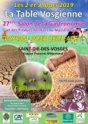 Salon Gastronomie la Table Vosgienne Saint-Dié-des-Vosges 88100 Saint-Dié-des-Vosges du 02-03-2019 à 10:00 au 03-03-2019 à 19:00