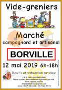 Vide-Greniers Marché Campagnard Artisanal à Borville 54290 Borville du 12-05-2019 à 06:00 au 12-05-2019 à 18:00