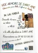 Vide-Armoire de Saint-Amé 88120 Saint-Amé du 10-03-2019 à 10:00 au 10-03-2019 à 17:00