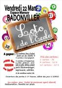 Loto de Printemps de l'école à Badonviller 54540 Badonviller du 22-03-2019 à 20:30 au 22-03-2019 à 23:30