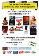 Conférence La Musique Classique au Cinéma St-Nicolas-de-Port 54210 Saint-Nicolas-de-Port du 16-03-2019 à 14:30 au 16-03-2019 à 17:00