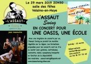 Concert Jazz L'Assaut Swing à Velaine-en-Haye 54840 Velaine-en-Haye 29-03-2019 à 20:30