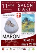 11e Salon d'Art de Peinture et Sculpture à Maron 54230 Maron du 30-03-2019 à 10:00 au 31-03-2019 à 18:00