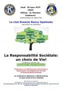Conférence Responsabilité sociétale à Vandoeuvre-lès-Nancy 54500 Vandoeuvre-lès-Nancy du 28-03-2019 à 18:30 au 28-03-2019 à 20:30