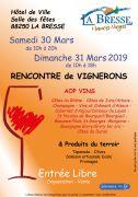Rencontre de Vignerons La Bresse Vins et Terroir 88250 La Bresse du 30-03-2019 à 10:00 au 31-03-2019 à 18:00