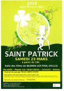 Saint-Patrick à Blénod-lès-Toul 54113 Blénod-lès-Toul du 23-03-2019 à 19:00 au 23-03-2019 à 23:30