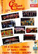 Festival Chant Choral à Golbey 88190 Golbey du 15-03-2019 à 20:30 au 17-03-2019 à 17:00