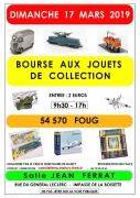 Bourse aux jouets de collection à Foug 54570 Foug du 17-03-2019 à 09:30 au 17-03-2019 à 17:00