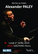 Récital de Piano par Alexander Paley à Nancy 54000 Nancy du 01-04-2019 à 20:30 au 01-04-2019 à 22:30