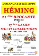Brocante et Salon des Collectionneurs à Heming 57830 Héming du 02-06-2019 à 05:00 au 02-06-2019 à 18:00