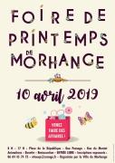 Foire de Printemps à Morhange 57645 Morhange du 10-04-2019 à 08:00 au 10-04-2019 à 17:00