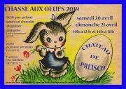 Chasse aux Oeufs de Pâques Château de Preisch 57570 Basse-Rentgen du 20-04-2019 à 10:00 au 21-04-2019 à 18:00