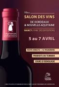 Salon des Vins Bordeaux et Aquitaine à Nancy  54500 Vandoeuvre-lès-Nancy du 05-04-2019 à 15:00 au 07-04-2019 à 18:00
