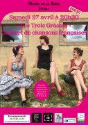 Concert Les Trois Grâsses au Musée de la Bière 55700 Stenay du 27-04-2019 à 20:30 au 27-04-2019 à 23:00