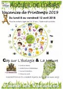 Accueil de Loisirs de Printemps à Lay-Saint-Christophe  54690 Lay-Saint-Christophe du 08-04-2019 à 07:30 au 12-04-2019 à 18:00
