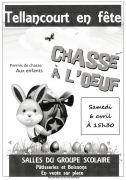 Chasse à l'Oeuf à Tellancourt 54260 Tellancourt du 06-04-2019 à 15:30 au 06-04-2019 à 17:00