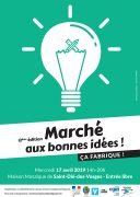 Marché aux bonnes idées St-Dié-des-Vosges 88100 Saint-Dié-des-Vosges du 17-04-2019 à 14:00 au 17-04-2019 à 20:00