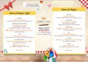 Menu Pâques Auberge Liezey près de Gérardmer 88400 Liézey du 21-04-2019 à 12:00 au 22-04-2019 à 19:00
