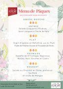 Menu Pâques Val Joli Le Valtin 88230 Le Valtin du 21-04-2019 à 12:00 au 22-04-2019 à 15:00