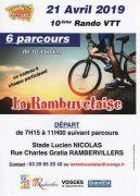 Rando VTT La Rambuvetaise à Rambervillers 88700 Rambervillers du 21-04-2019 à 07:15 au 21-04-2019 à 11:00