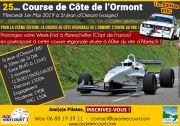 Course de Côte à Saint-Jean-d'Ormont 88210 Saint-Jean-d'Ormont du 01-05-2019 à 08:45 au 01-05-2019 à 17:00