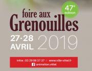 Foire aux Grenouilles de Vittel  88800 Vittel du 27-04-2019 à 14:00 au 28-04-2019 à 20:00