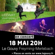Concert Leeway au Gouvy Freyming-Merlebach 57800 Freyming-Merlebach du 18-05-2019 à 20:00 au 18-05-2019 à 23:00
