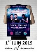 Concert Diva Faune et Morgan Nagoya au W à Woustviller 57915 Woustviller du 01-06-2019 à 20:00 au 01-06-2019 à 23:00