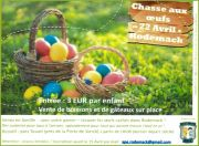 Chasse aux Oeufs de Pâques à Rodemack 57570 Rodemack du 22-04-2019 à 14:30 au 22-04-2019 à 17:30