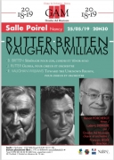 Concert Rutter, Britten, Vaughan Williams à Nancy 54000 Nancy du 25-05-2019 à 20:30 au 25-05-2019 à 22:00