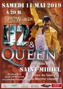 Concert Live Tribute U2/Queen à Saint-Mihiel 55300 Saint-Mihiel du 11-05-2019 à 20:00 au 11-05-2019 à 22:30