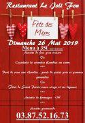 Menu Fête des Mères Le Joli Fou Rémilly 57580 Rémilly du 26-05-2019 à 10:00 au 26-05-2019 à 14:00
